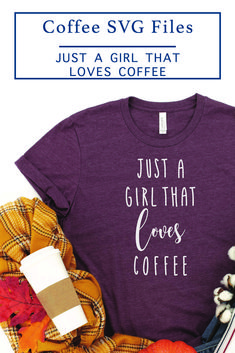 Make this adorable coffee shirt for yourself or a coffee lover you know with the F*R*E*E SVG File from Everyday Party Magazine #CoffeeLover #Coffee #FreeSVG