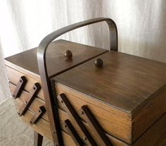 Vintage French foldout sewing box by lapomme on Etsy, $125.00