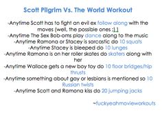 Scott Pilgrim Workout!