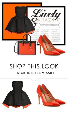 """""""Tangerine Dream"""" by salstan ❤ liked on Polyvore featuring Parlor, Gianvito Rossi, Henri Bendel, instyle and contestentry"""