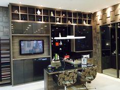 Mostra Simonetto - Home Office   By Amanda Ornelas Home Office, Liquor Cabinet, Amanda, Storage, Furniture, Home Decor, Arquitetura, Interiors, Purse Storage
