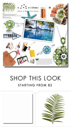 """""""Totwoo """"Wear a beautiful mind"""""""" by totwoo ❤ liked on Polyvore featuring Pier 1 Imports, Bora Bora, WearableTech, totwoo and smartjewelry"""