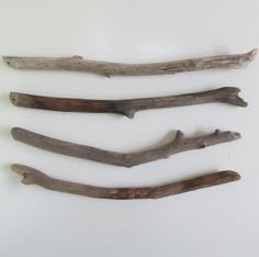 4 Straight Driftwood Branches Drift Wood Dowels For DIY Wall Hanging Macrame Boho Decors by LonelyBeach on Etsy