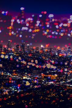 Los Angeles Lights Just another composite from the ever-inspiring photographs from my trip to LA in October. I wanted this to evoke the feeling of viewing a city skyline from a tall, glass building - lots of reflection and bokeh. I layered two photos of the famous downtown area. One was in focus and one out of focus. I applied an Overlay layer to the mask in Photoshop and called it a day. Photography byBex Find me here: [Tumblr|Facebook|Society 6|500px]