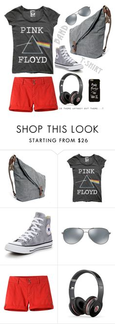 """""""I am with the band?"""" by helia ❤ liked on Polyvore featuring Converse, Ray-Ban, Mountain Khakis, Beats by Dr. Dre, bandtshirt and bandtee"""