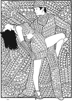Welcome to Dover Publications Creative Haven Insanely Intricate Shall We Dance? Coloring Book by Phill Evans (Pic. 4)