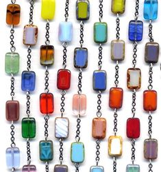 Long Multicolor Necklace Modern Necklace Handmade by Annaart72