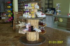 Cave City Welcome Center & Chamber of Commerce Check out our KY Proud Gift Shop. Displays created from wooden cable spools. Wooden Cable Spools, Cave City, Shop Displays, Chamber Of Commerce, Check, Gifts, Ideas, Home Decor, Presents