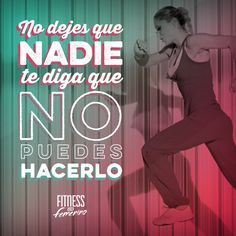 No dejes que nadie te diga que no puedes hacerlo. Fitness en femenino. Stomach Muscles, Core Muscles, Fitness Motivation Quotes, Fitness Goals, Pilates Videos, My Gym, Fitness Nutrition, Workout Programs, Gym Workouts