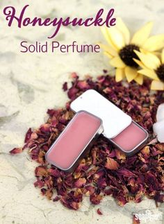 Honeysuckle Solid DIY Perfume - 11 DIY Perfume Ideas | Learn To Create Your Own Perfect Perfume With Your Favorite Essential Oils That You Can Customize The Oils, Aroma And Amount of Money Spent, see more at http://diyready.com/diy-perfume-ideas-essential-oil-perfume-recipes