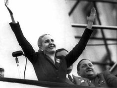 Eva Peron. Affectionately known as Evita. From poverty to the president's mansion. First Lady of Argentina 1946-1952. Hero to the poor, champion for women. Mystical, almost mythical woman immortalized by thousands. Mesmerized with her famous balcony speeches.