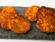 These Sweet Potato and Carrot Latkes have a perfect blend of sweet and savory! Visit www.ninjakitchen.com for more delicious recipes!