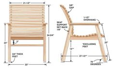 A curved back and seat make this cypress chair extra-comfy--the plan was modelled after a Mercedes-Benz seat!