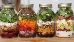 Salads In A Jar (love this blog: Domestic Geek)