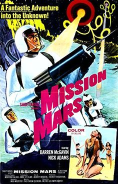 'Mission Mars' (2) - Fantastic A4 Glossy Print Taken From A Vintage Sci-Fi Movie Poster by Design Artist http://www.amazon.co.uk/dp/B00U3GZBWI/ref=cm_sw_r_pi_dp_U11jvb0PZG8QS