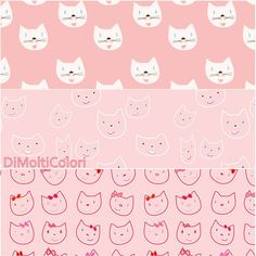 Printable kittens   http://etsy.me/2rhV0LZ    #digital #download #pattern #cats #kitties #kitten #paper #background #cute #printable #lovecats #wrapping #wrap #seamless #backdrop #digiscrap #scrapbook #gift #scrapbooking #red #pink