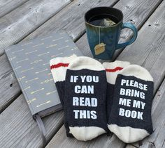 These adorable bookish socks would be the perfect gift for book lovers! I Love Books, Good Books, My Books, Book Socks, Fangirl, Literary Gifts, Gifts For Readers, Book Lovers Gifts, Nerd Gifts