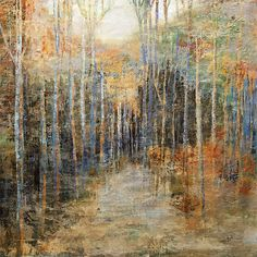 """Landscape Fine Art """"Wooded Trail"""" at a Scottsdale Art Gallery Trail, Original Art, Art Gallery, Fine Art, Landscape, The Originals, Canvas, Wood, Artwork"""