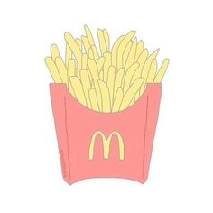 overlay, food, and fries image Food Stickers, Laptop Stickers, Cute Stickers, Suitcase Stickers, Tumblr Drawings, Cute Drawings, Transparents Tumblr, Theme Divider, Tumblr Png