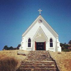 Old St. Hilary's Church Tiburon , CA. Auntie May got married here.