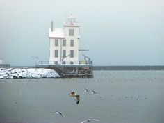 "Historic Lorain Lighthouse is Lake Erie's ""Jewel of the Port."" It's lovely to look at all year 'round!"