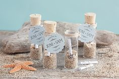 Message in a Bottle Wedding Favors #nautical #beach #tags #DIY
