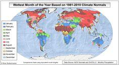 Самый дождливый месяц в году