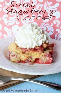 Sweet strawberry cobbler