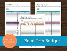 Road Trip Budget Sheet  Travel Planner  by RoadTripBlogger on Etsy Road Trip Planner, Vacation Planner, Budget Planner, Travel Planner, Budget Travel, Travel Tips, Vacation Travel, Travel Ideas, Travel Destinations