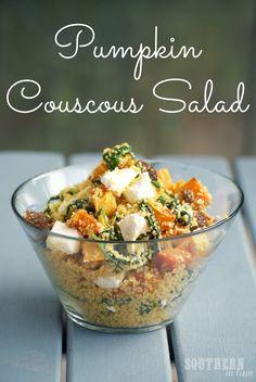 Roasted Pumpkin Couscous Salad - Freelicious Couscous Recipe
