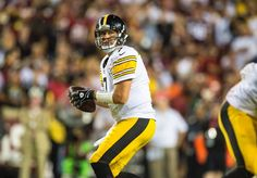 QB Ben Roethlisberger completed 27 of 37 passes (73.0%) in Week 1 vs. the Redskins for 300 yards, 3 touchdowns, and 1 interception for a quarterback rating of 112.4 .