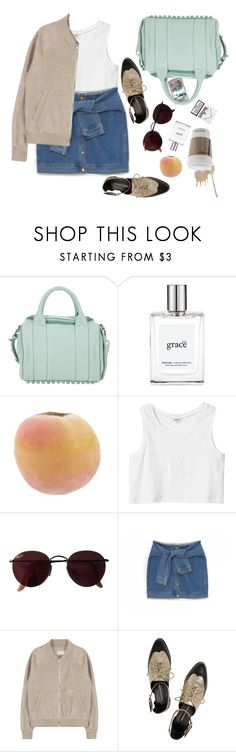 """""""Untitled #579"""" by amandaa-fashion ❤ liked on Polyvore featuring Alexander Wang, philosophy, Monki, Ray-Ban, DKNY and Rebecca Minkoff"""