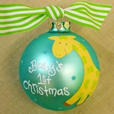 You could win this personalized ornament and 4 others this week on the Mama and Baby Love Facebook page!! Merry Christmas!