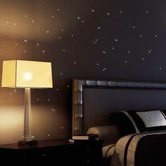 Fancy Wandtattoo Loft St ck Leuchtpunkte fluoreszierende Punkte leuchten im Dunklen Leuchtsterne