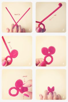 how to make a bunny ear ring!  Easter Ideas --> This Way