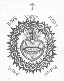 This is a depiction of the Sacred Heart of Jesus by Catholic visionary St Margaret Mary Alacoque