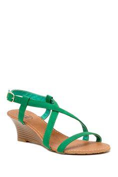 Carrini Stacked Wedge Sandal