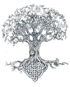 ideas celtic tree of life tattoo design tatoo Celtic Symbols, Celtic Art, Celtic Knots, Symbols Of Life, Sister Symbols, Scottish Symbols, Irish Symbols, Celtic Tattoos, Viking Tattoos