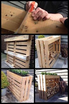 Shed DIY - My Shed Plans - Plantenbak/haardhout kast gemaakt van pallets - Now You Can Build ANY Shed In A Weekend Even If Youve Zero Woodworking Experience! Now You Can Build ANY Shed In A Weekend Even If You've Zero Woodworking Experience!