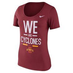 Women's Nike Iowa State Cyclones Local Spirit Tee, Size: Medium, Red