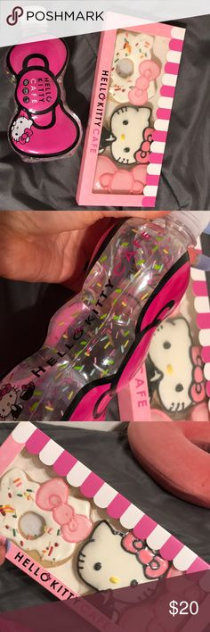Hello kitty cafe items Hello kitty cafe water bottle & sugar cookies BNIB Hello Kitty Other