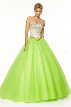 2015 Bicolor Quinceanera Dresses Sweetheart  Floor-Length Tulle Ball Gown Lace Up Beaded Bodice USD 189.99 EPP42QSCFR - ElleProm.com