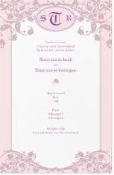 monogram roze Uitnodigingen en aankondigingen