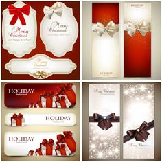 Shining Christmas cards vector