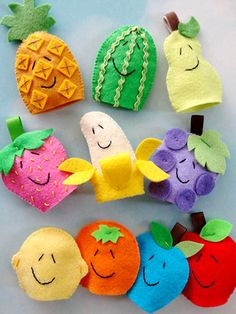 Fruit Finger Puppets