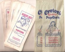 I'm having a popcorn party one of these days! Popcorn Bags Vintage c. 1920's