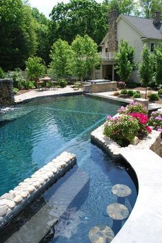 .I love the idea of a eating/drinking area in the pool.  Grandkids could stay in all day.
