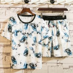 Tracksuit Set, Summer Set, Preppy Style, Streetwear Fashion, Elastic Waist, Short Sleeves, Clothes For Women, Tees, Shorts