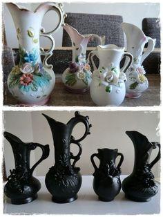 Halloween vases from dollar store