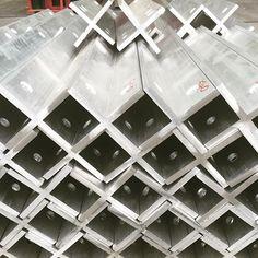 Aluminium cruciform for Bjarke Ingels Group 2016 Serpentine pavilion. #aluminium #architecture